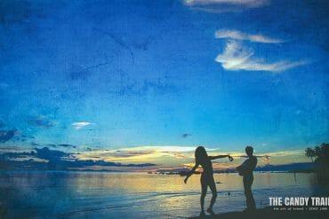 sarong beach sunset papua indonesia
