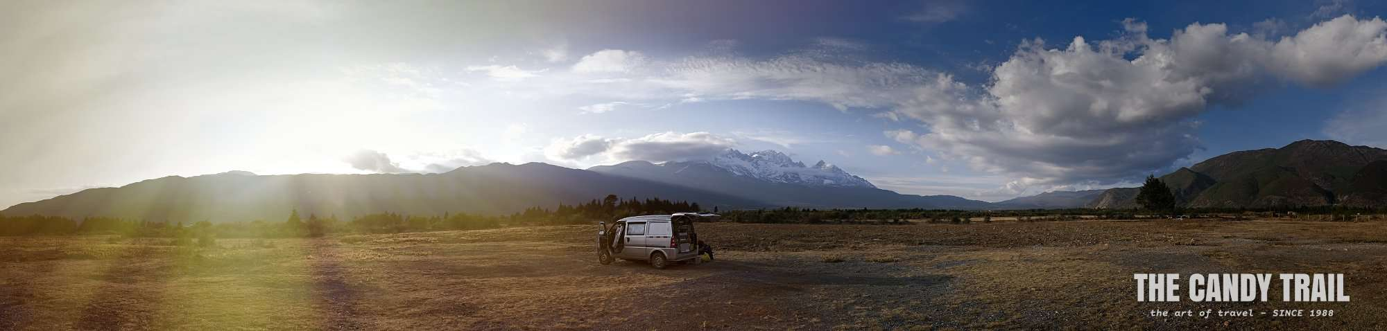 Van camping near White Dragon Mountain, Yunnan