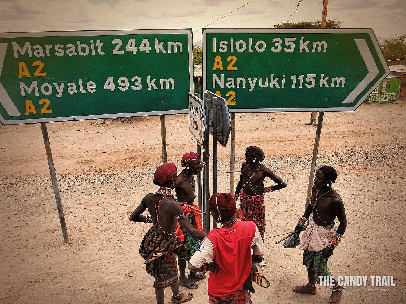 samburu warriors on route moyale marsabit kenya