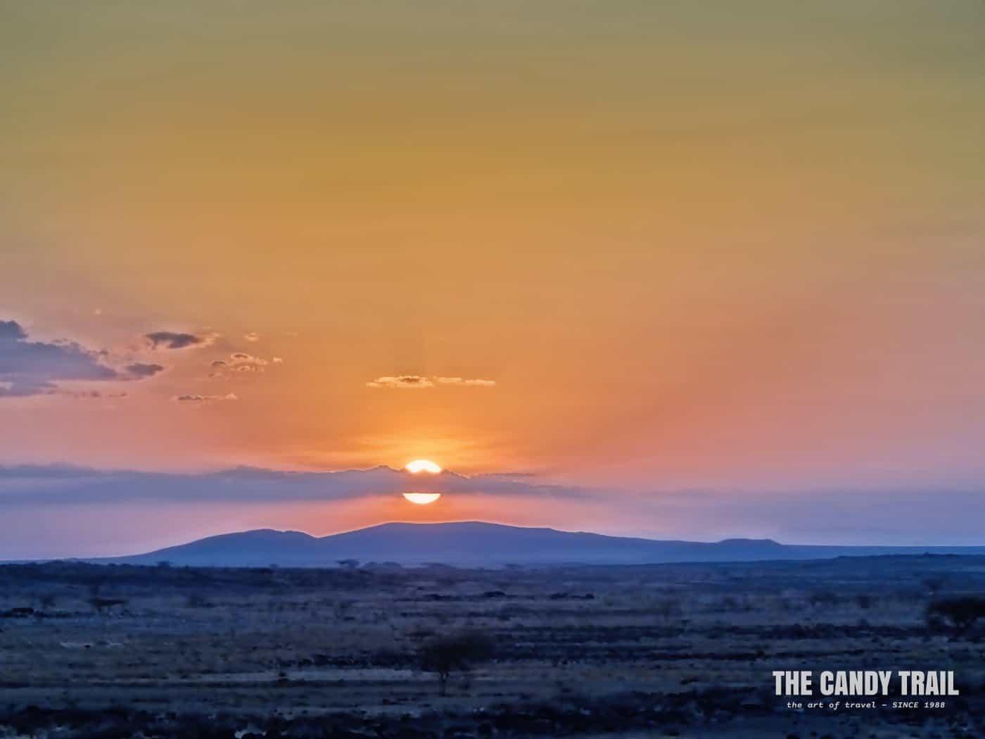 sunset near marsabit kenya