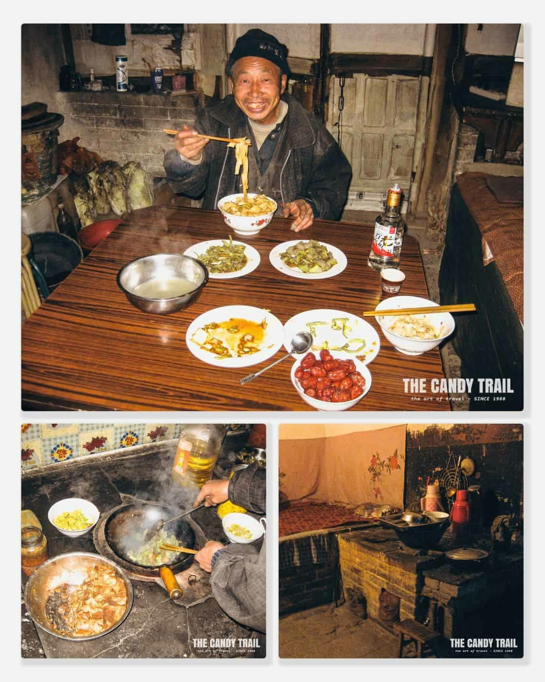 lijiashan cave house meal