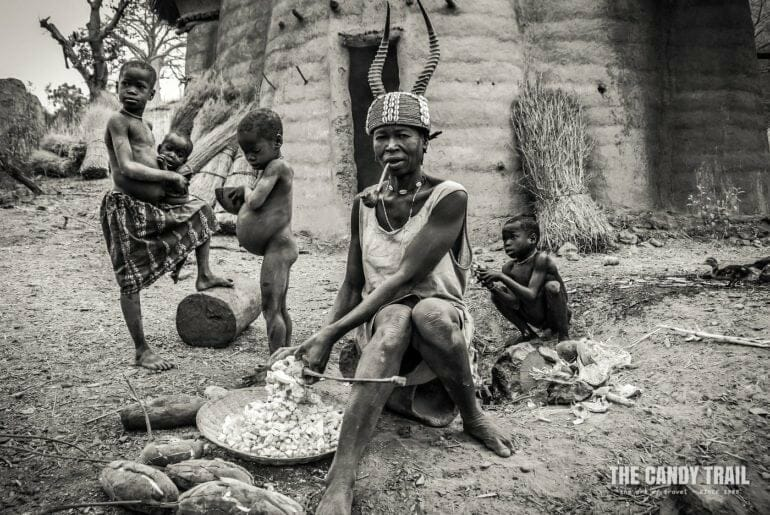 traditional woman tamberma valley togo
