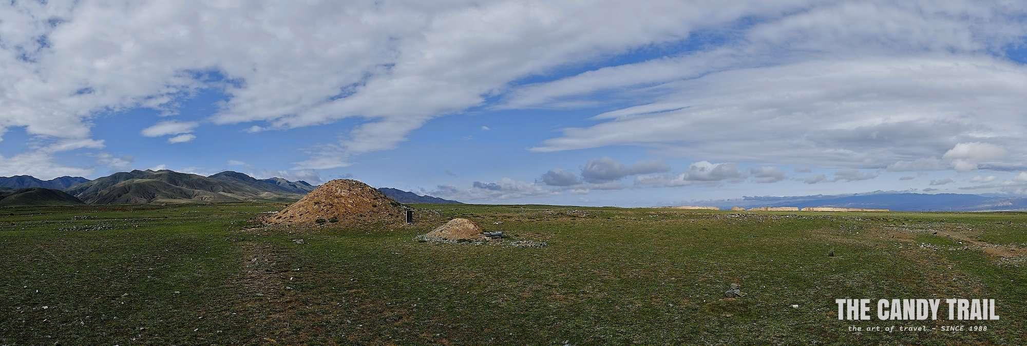 burial mound yongtai fortress panorama china