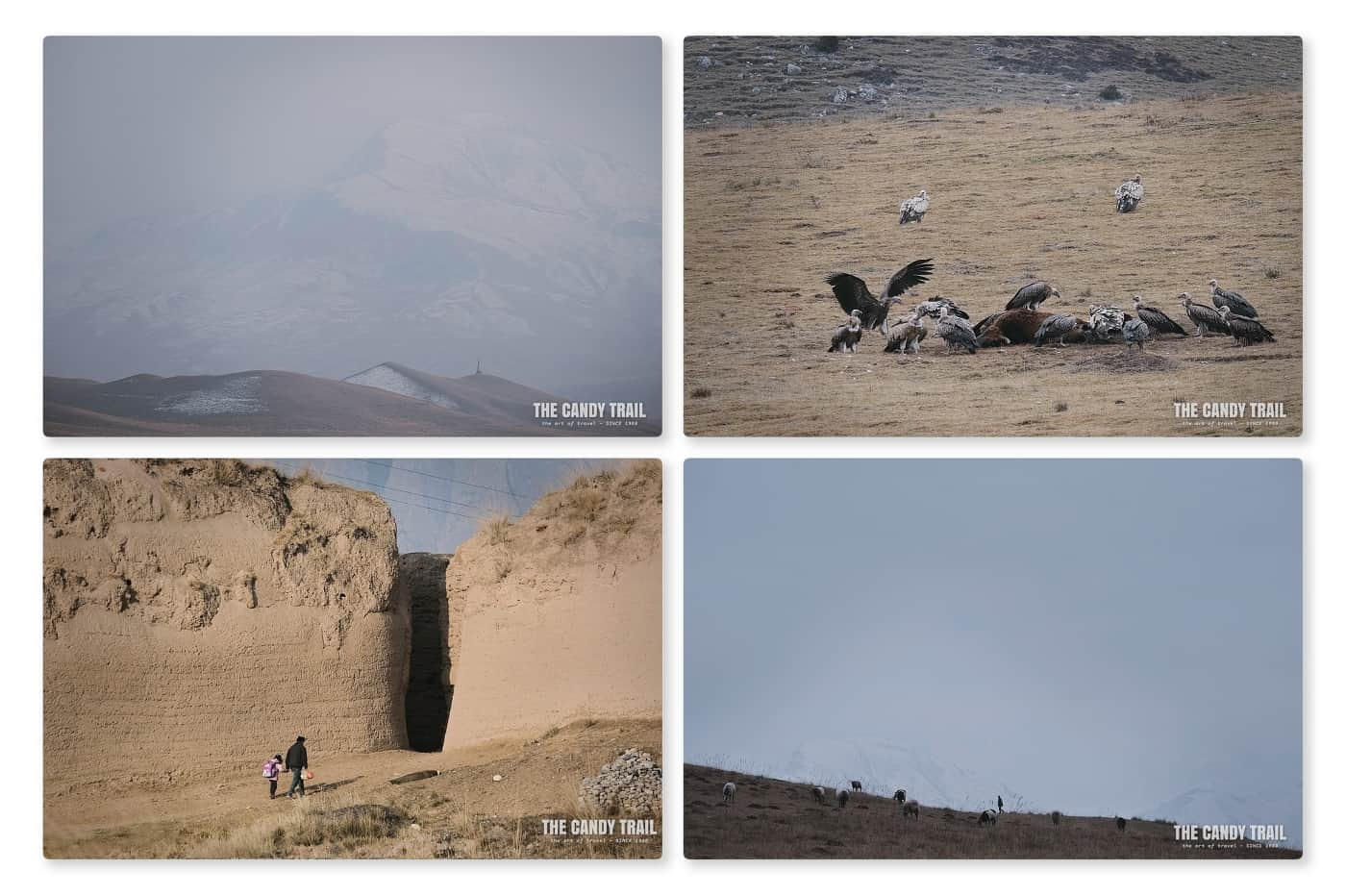 arid landscape scenes ganjia gansu china