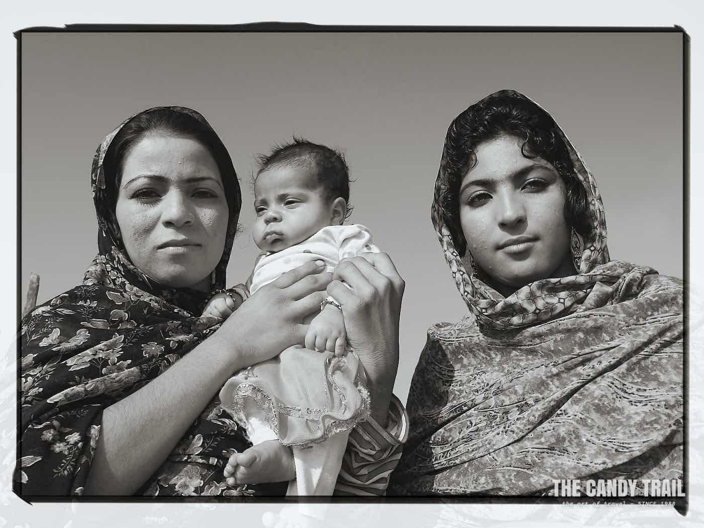 Iranian  women with baby minab
