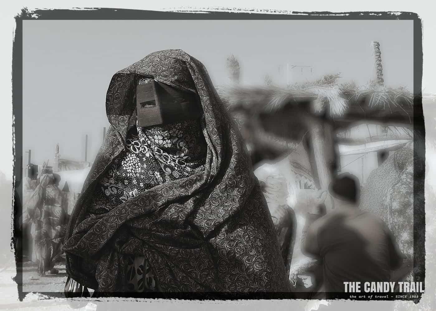 masked women black and white