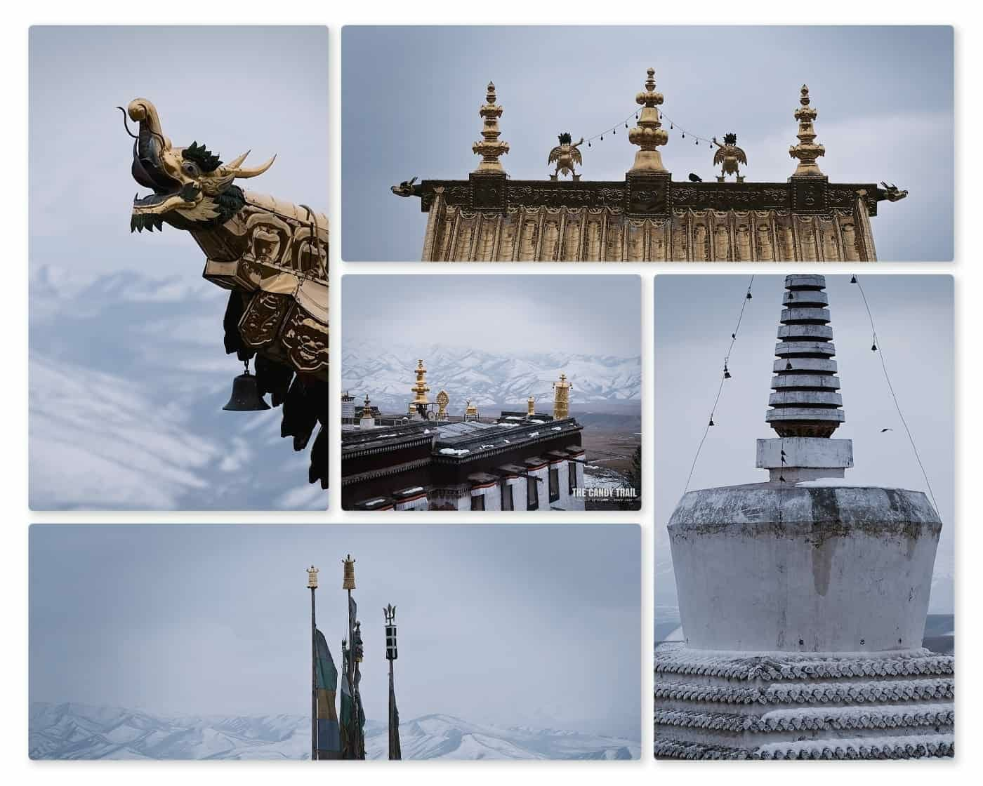 symbols tibetan monastery ganjia gansu china
