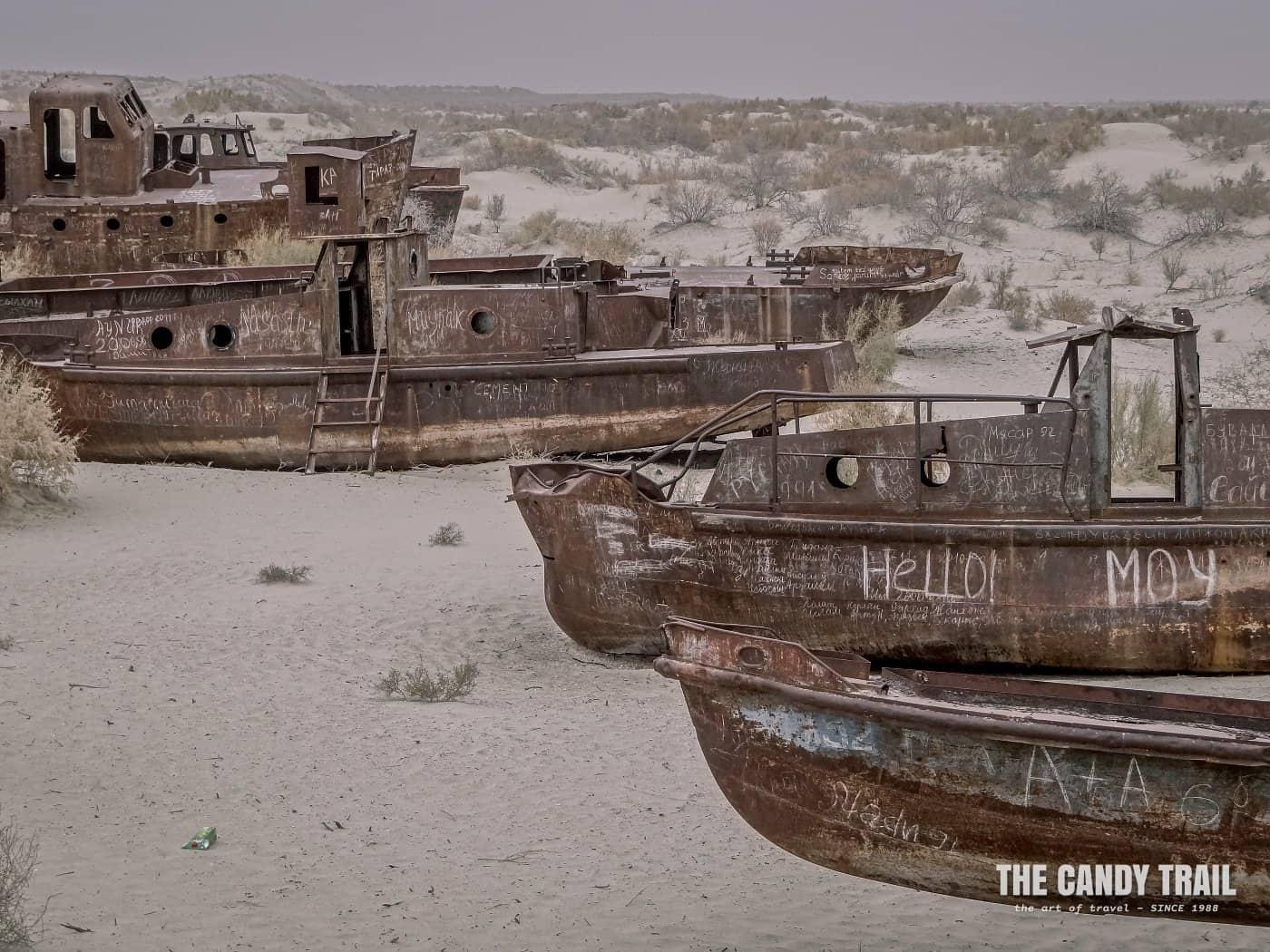 cemetery of ships aral sea uzbekistan