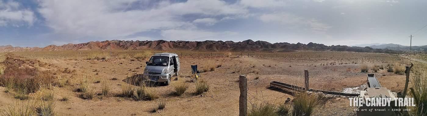van camping yugur grasslands china