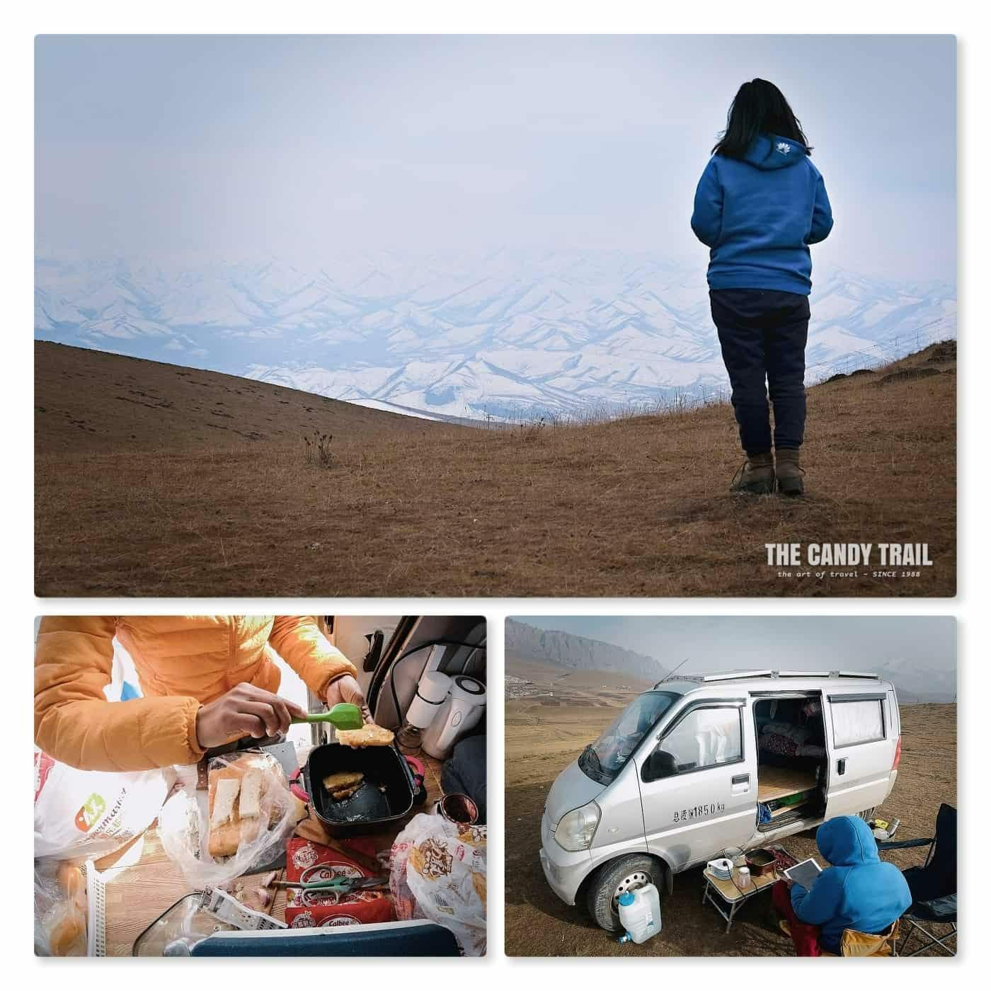 van life camping ganjia gansu china
