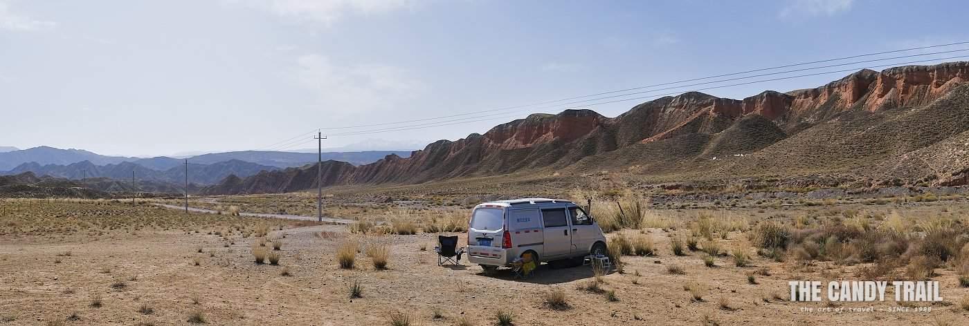 van life desert landscape china
