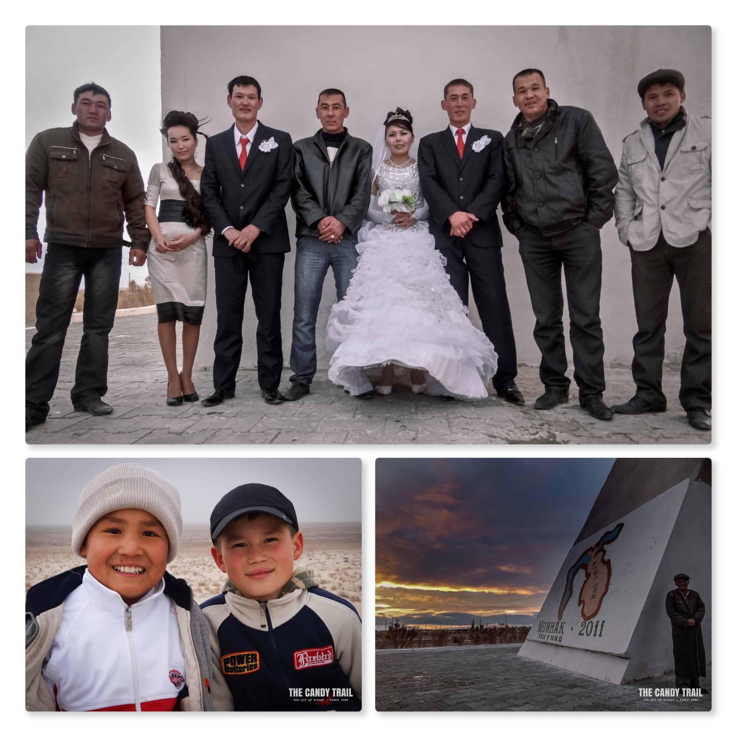 wedding party locals moynaq uzbekistan