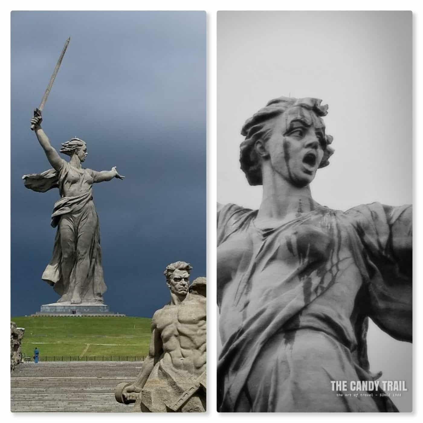 mother russia stalingrad war memorial statue