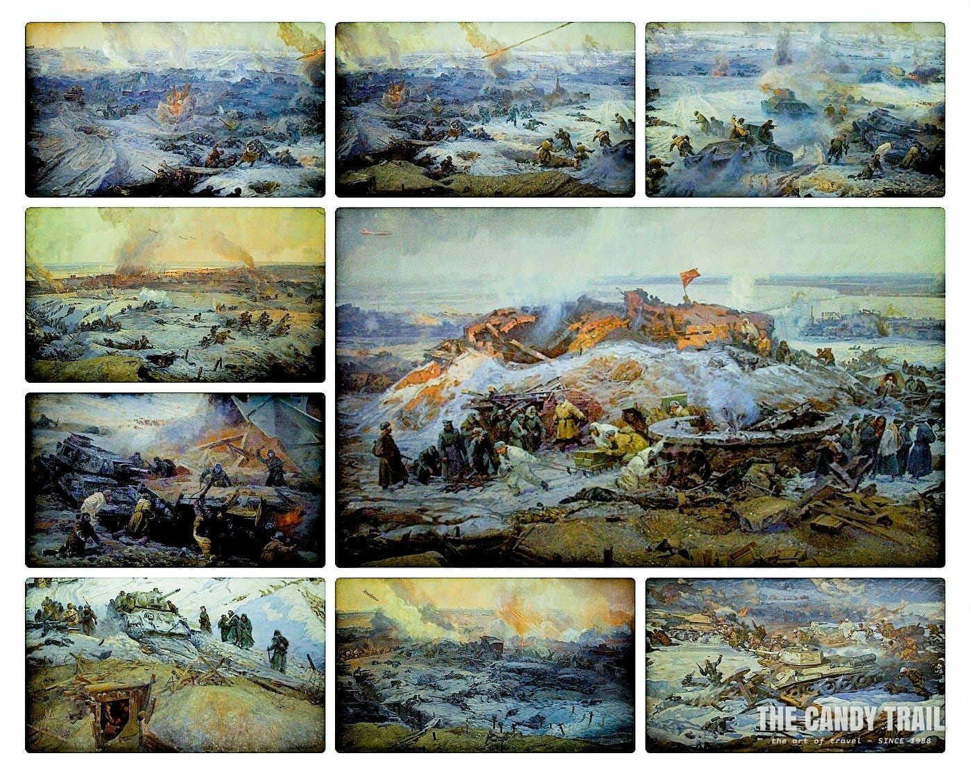 Stalingrad Museum: Intense battle scenes painted in a 360-degree panorama of Stalingrad as seen from Hill 101.
