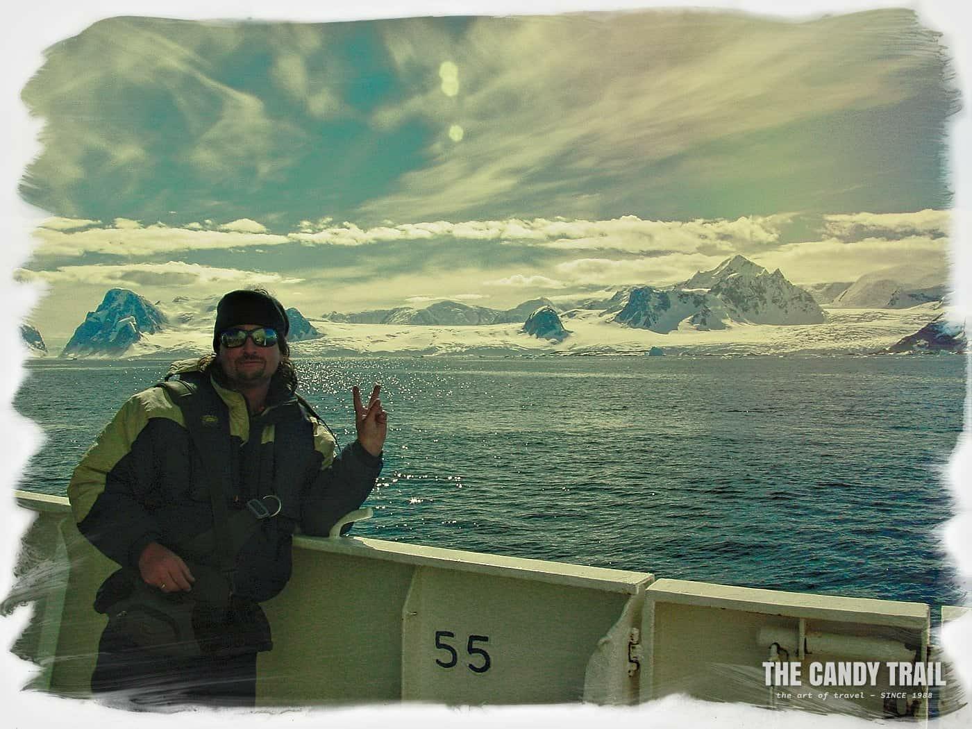 Michael Robert Powell long term traveler in Antarctica 2003