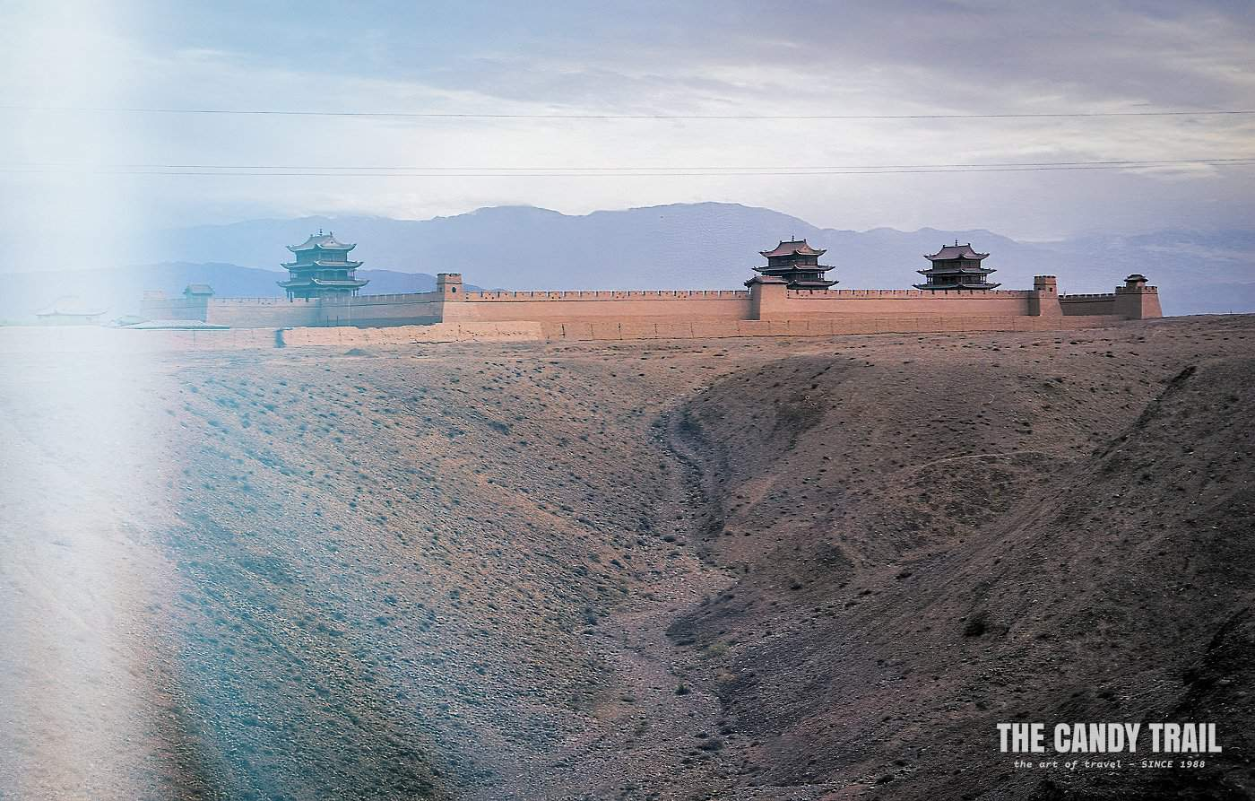 Jiayuguan Fortress on the silk road trade route