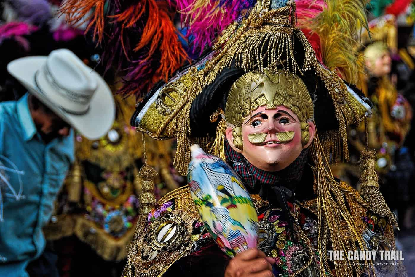 mask of performer at San Francisco de Asis festival in guatemala