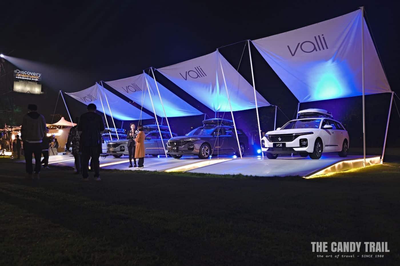 TV presenters Valli car launch event china