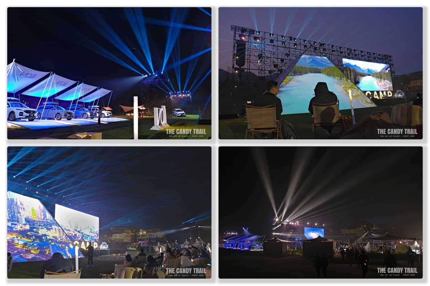 Valli car launch stage event in evening at morganshan china