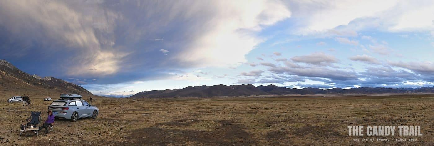 panorama landscape tibetan sichuan china