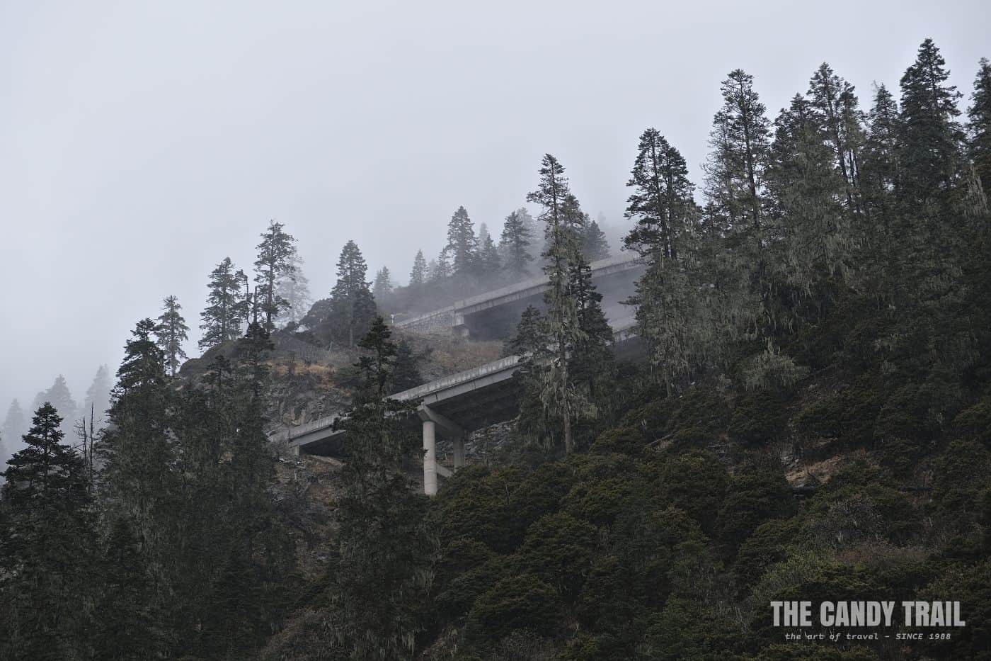 winding highway tibetan sichuan china