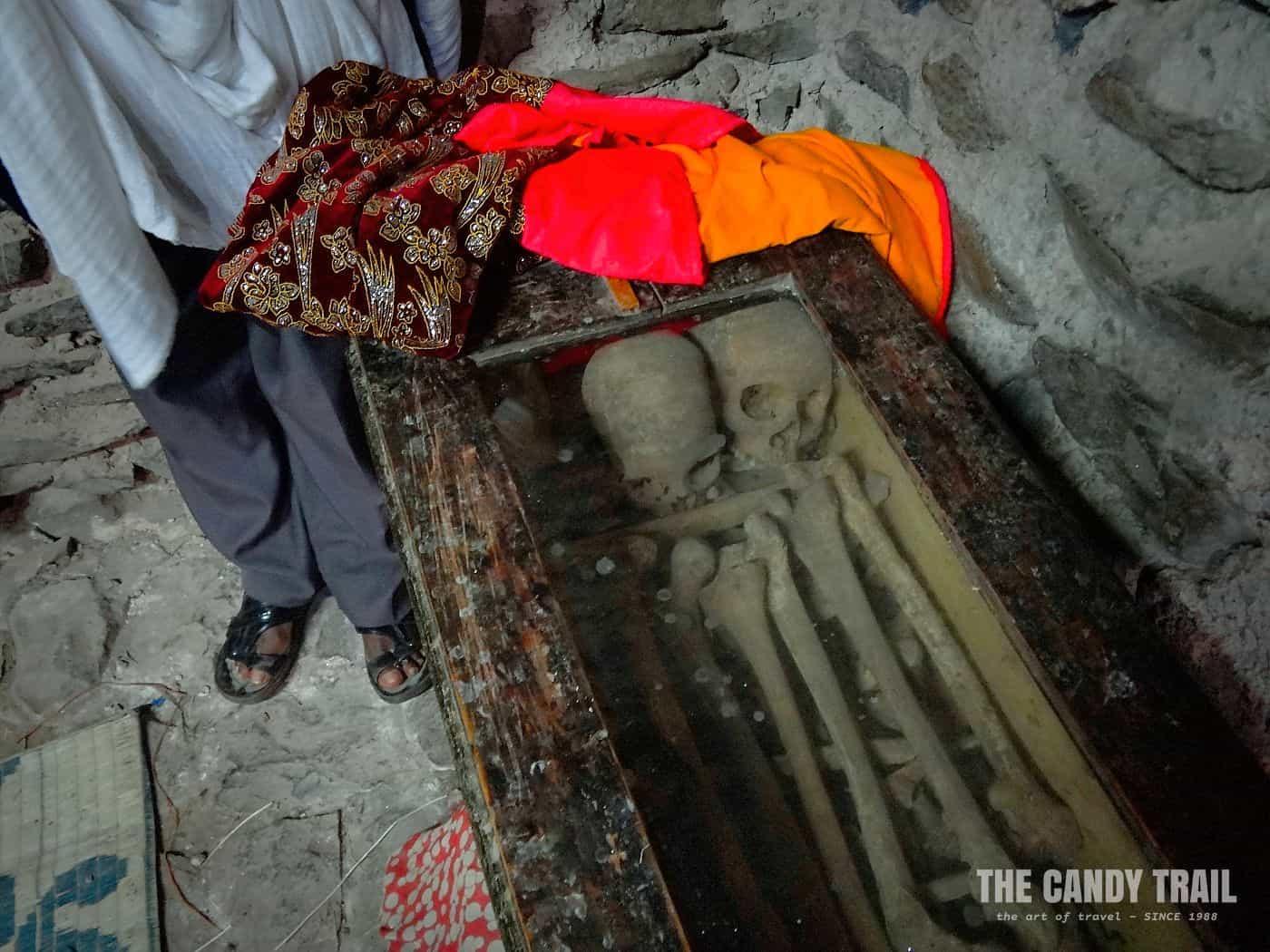 bones of queen gonder castles ethiopia