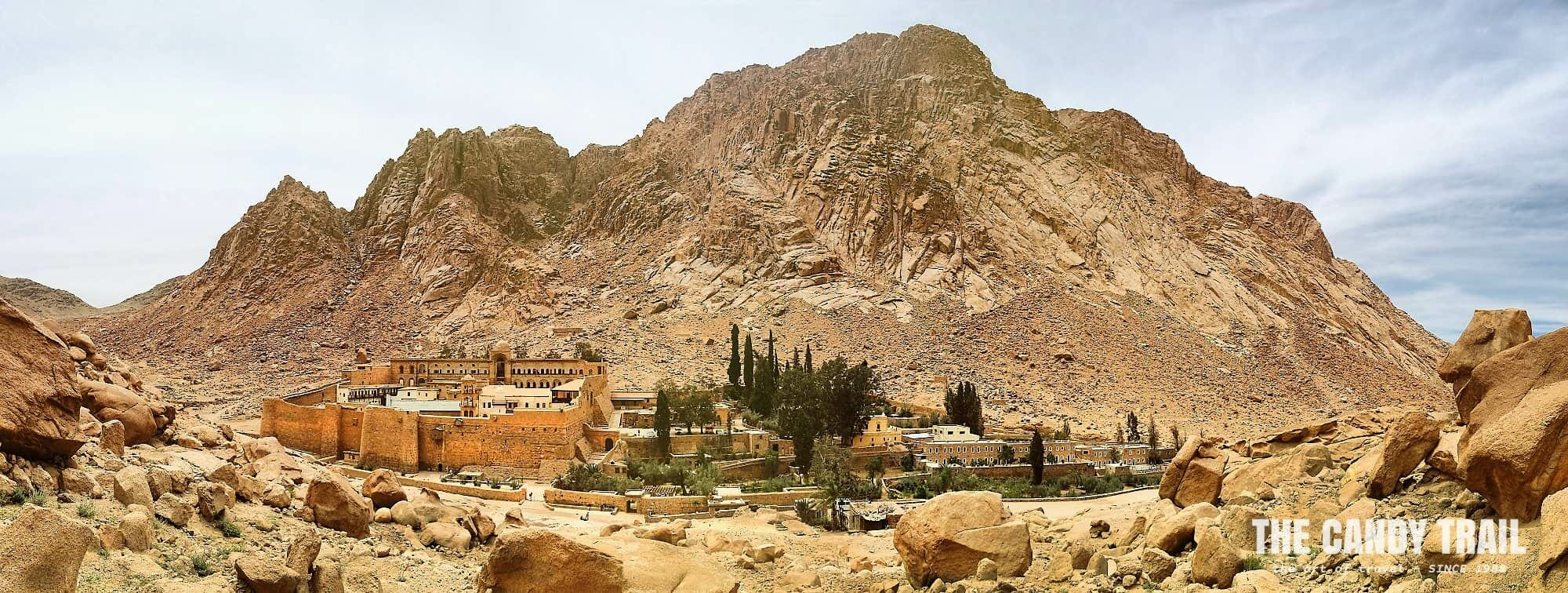 hiking mount sinai egypt monastery panorama