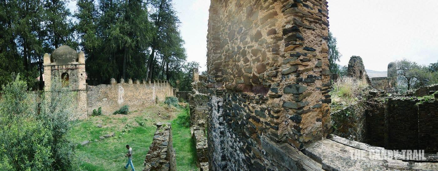 ruins at Kusquam Maryam gonder castle images ethiopia