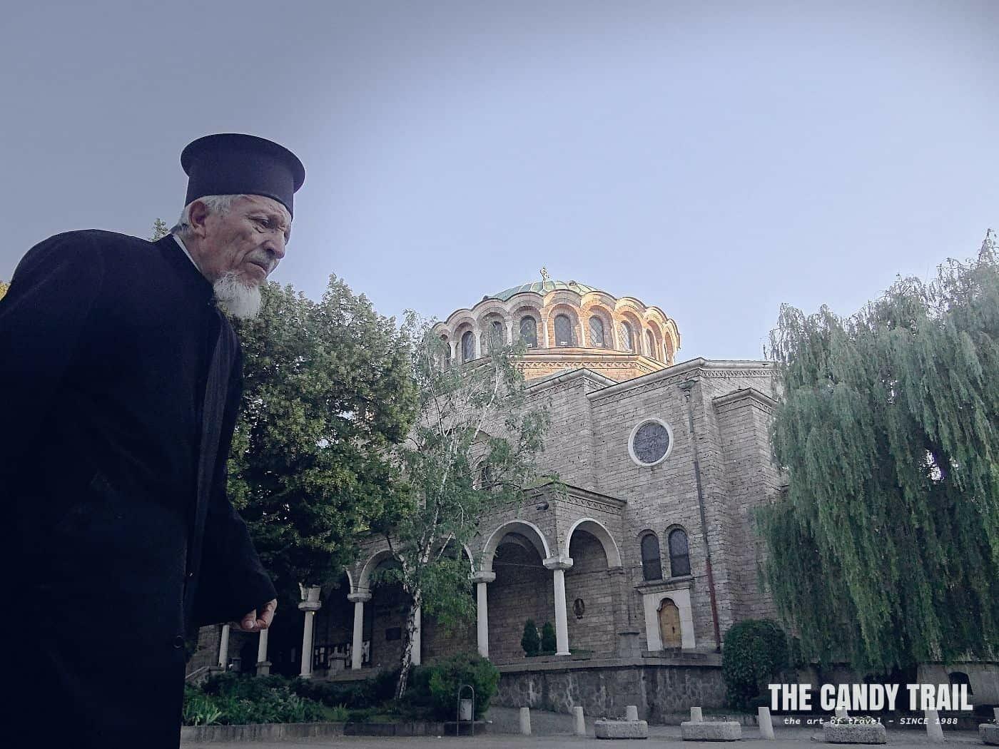 priest sveta nedelya cathedral sofia bulgaria
