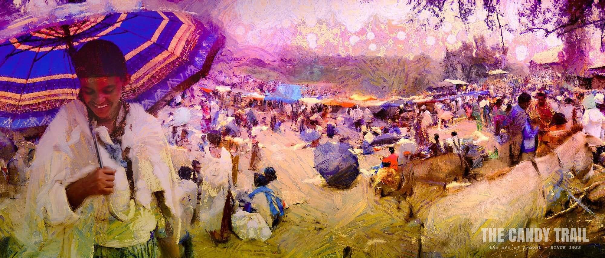 Woman at market - Ethiopia: MRP ART 2013